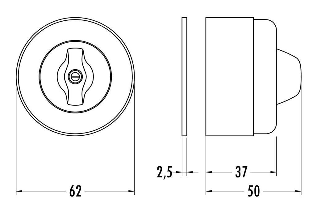drehschalter aufputzmontage duroplast wei von replicata wechselschalter replikate. Black Bedroom Furniture Sets. Home Design Ideas