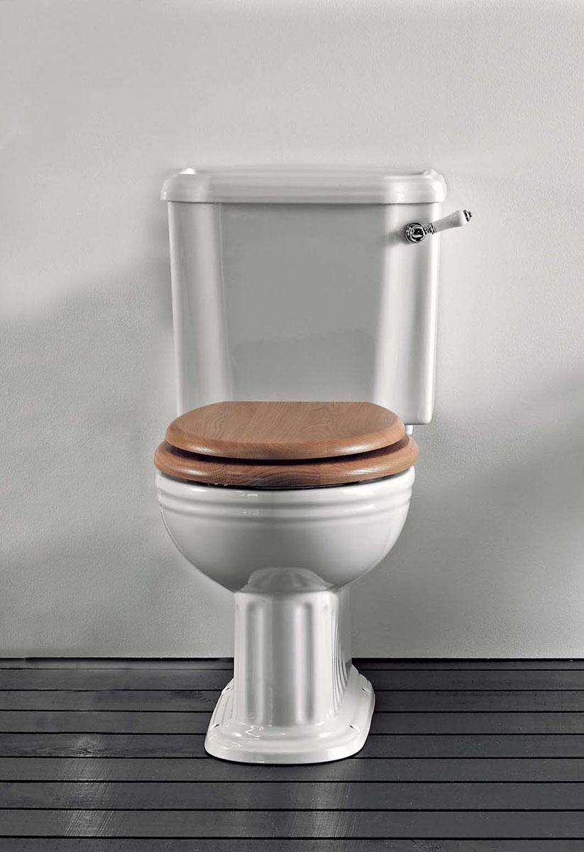 toilette belgra mit aufsitzendem sp lkasten von. Black Bedroom Furniture Sets. Home Design Ideas