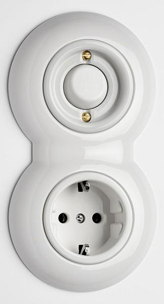 kombination schalter steckdose inklusive u erem. Black Bedroom Furniture Sets. Home Design Ideas