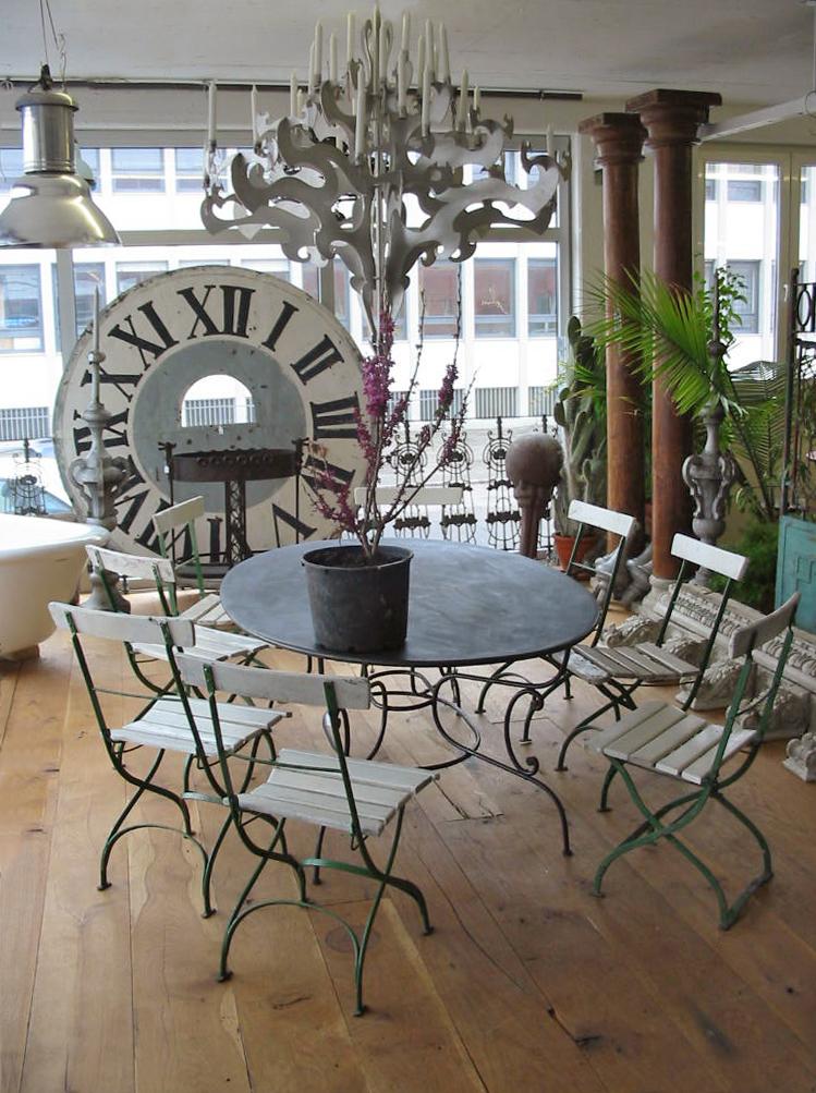 Gartentisch Oval Schmiedeeisen Verzinkt Von Replicata H 730 Mm B