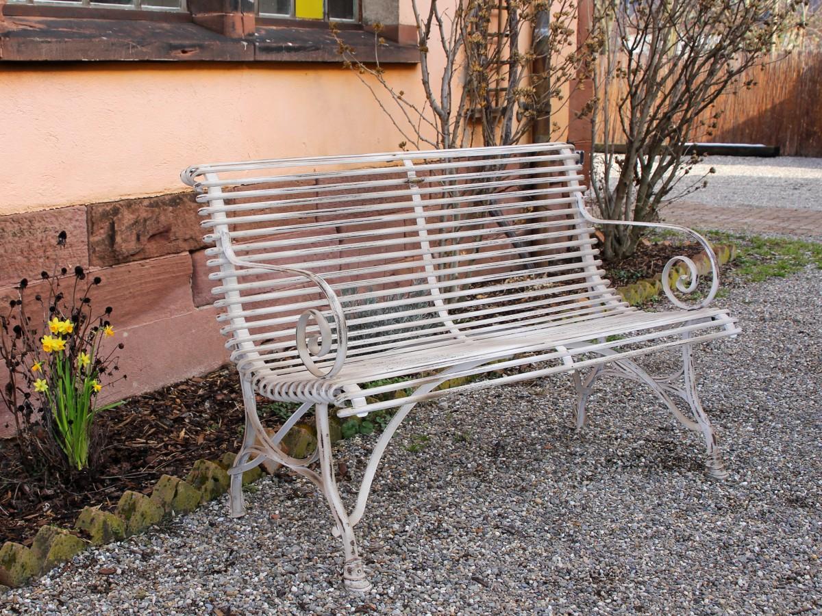 Gartenbank ARRAS 2 oder 3-Sitzer Bank« von Replicata - Tiefe 58 cm ...