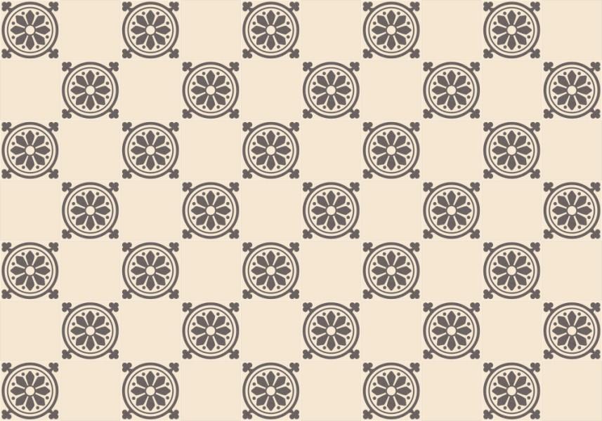 Steinzeugfliesen  Steinzeugfliese Dekorfliese FLORA« von Replicata - 170 x 170 x 11 ...