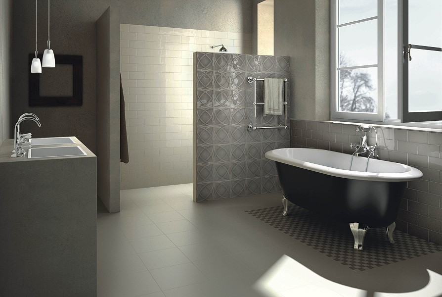 ornamentfliese vintage farbe grau beige von replicata 200 x 200 mm replikate. Black Bedroom Furniture Sets. Home Design Ideas