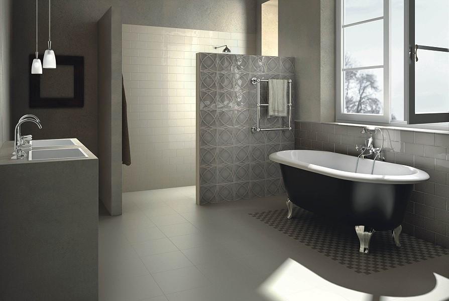 rechteckfliese vintage farbe grau beige von replicata. Black Bedroom Furniture Sets. Home Design Ideas