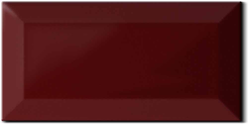 Wandfliese metro farbe weinrot von replicata 75 x 150 mm st rke 8 mm replikate - Fliesen weinrot ...
